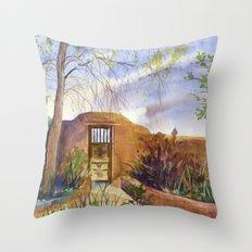 A Southwestern Gate Throw Pillow