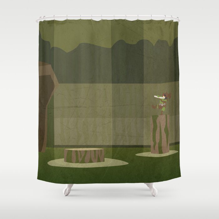 Lost Woods Shower Curtain By Jeice27