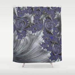Silver Filigree Shower Curtain