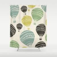 balloons Shower Curtains featuring Balloons by spinL
