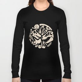 Fossil Pattern Long Sleeve T-shirt