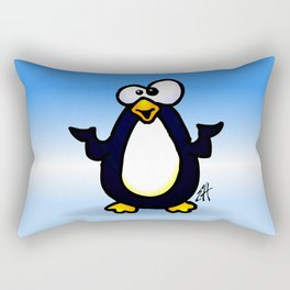 Pondering Penguin Rectangular Pillow