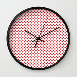 Red hearts Wall Clock