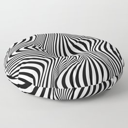 Abstract Optical Illusion Background Floor Pillow