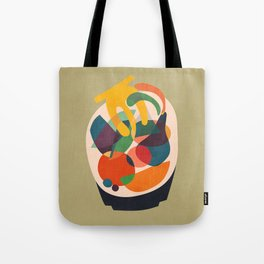 Fruits in wooden bowl Tote Bag