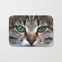 Staring Cat Bath Mat