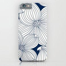 Dogwood Big Linear Floral: Navy Ivory iPhone 6s Slim Case