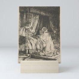 David in Prayer - Rembrandt van Rijn Mini Art Print