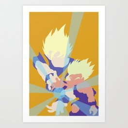 Dragonball Z - Father-Son KameHameHa Art Print