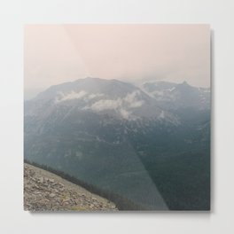 Misty Mountains at Rocky Mountain National Park Metal Print