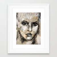 strong Framed Art Prints featuring strong by woman