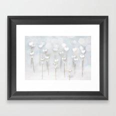 White hearts Framed Art Print