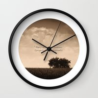 inspirational Wall Clocks featuring Inspirational by mJdesign