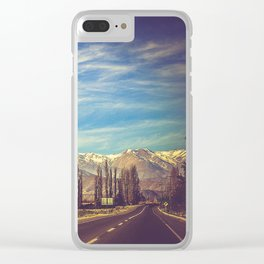 Scenic Mountain Landscape in The Andes Clear iPhone Case