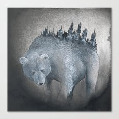 The Bear Who Couldn't Bear Canvas Print