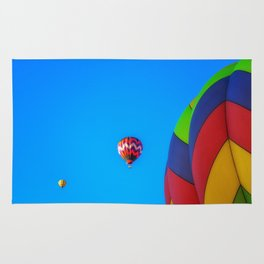 Flying Away hot air balloons Rug