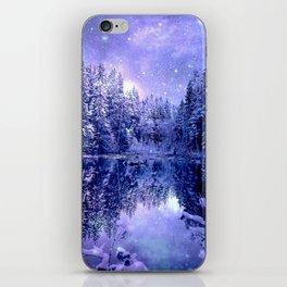 Lavender Winter Wonderland : A Cold Winter's Night iPhone Skin