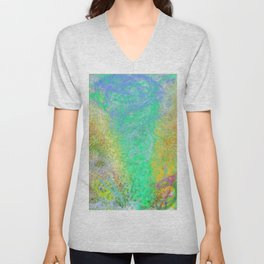 Blue Tornado 7 (Green) Unisex V-Neck