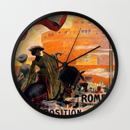 Rome 1911 world exposition Wall Clock