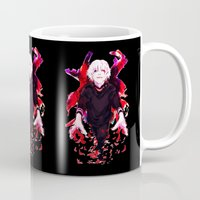 tokyo ghoul Mugs featuring Kaneki Tokyo Ghoul 4 by Prince Of Darkness
