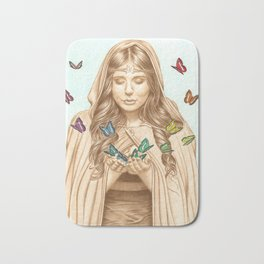 The Butterfly Girl Bath Mat