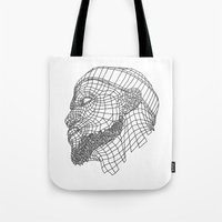 lebron Tote Bags featuring Basketball King by NINE PROJECT