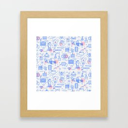 The fans pattern Framed Art Print
