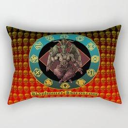 Baphomet and horoscope Rectangular Pillow