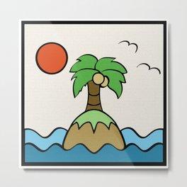 Island Horizon Metal Print