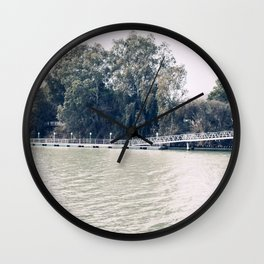Calm river side | modern landscape photography Wall Clock
