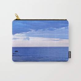 Blue on Blue at the River Mouth Carry-All Pouch