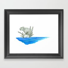 PIKA IN AN ISLAND Framed Art Print