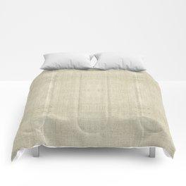 """""""Nude Burlap Texture"""" Comforters"""