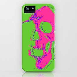 Skull - Pink iPhone Case