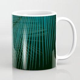 Palm leaf synchronicity - twilight teal Coffee Mug