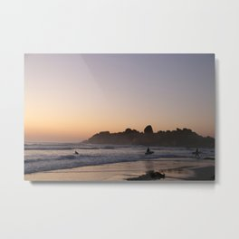 Surfers at Sunset Metal Print