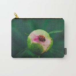 The Ladybug and the Peony Carry-All Pouch