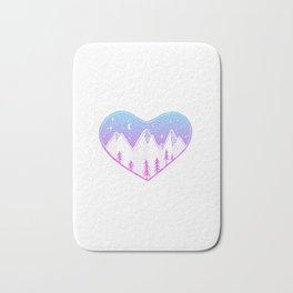 Heart In The Mountains - Pastel Palette Bath Mat