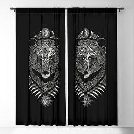Scandinavian bear Blackout Curtain