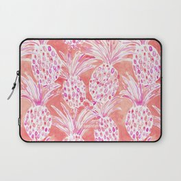FLESHED OUT Tropical Pink Pineapples Laptop Sleeve