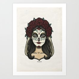 Painted Face Series : Sugarskull Art Print