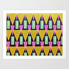 Velas pattern Art Print