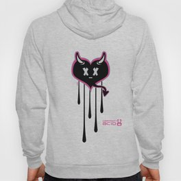Evil Heart with Devil's Horns, Tail and Skulls Hoody