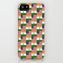 Mix of flag : usa and India iPhone Case