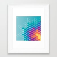 honeycomb Framed Art Prints featuring Honeycomb by AleyshaKate