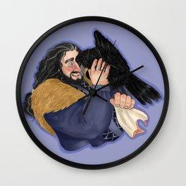 Affectionate raven Wall Clock