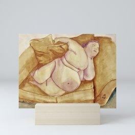 The Benefits of Unsupervised Sleeping Mini Art Print