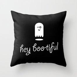 Hey Boo-tiful Ghost Throw Pillow