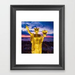 Sunset Wisconsin Framed Art Print