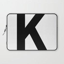 Letter K (Black & White) Laptop Sleeve